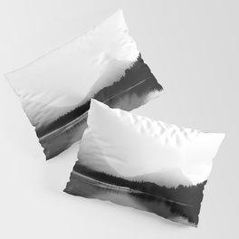 Mountains Landscape Photography | Lake | Black and White Photography | Montana Pillow Sham