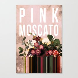 Pink Moscato in Blush Canvas Print