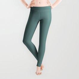Colors of Autumn Light Pastel Blue Green Solid Color Leggings