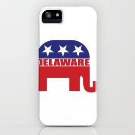 Delaware Republican Elephant iPhone Case