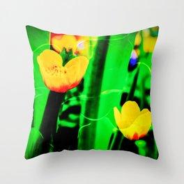 Flowers magic marsh Marigold Throw Pillow