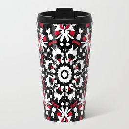 Black Rose Mandala Travel Mug