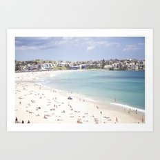 Bondi Beach White Sand Art Print