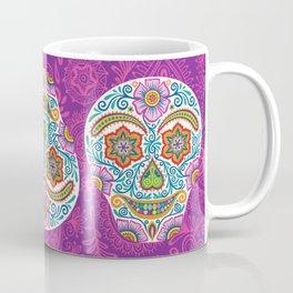 Flower Power Skully Coffee Mug
