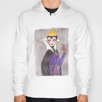 evil queen Hoodies featuring The Evil Queen by carotoki