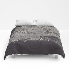 San Francisco City Map Comforters