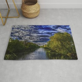 Branch River at Forestdale, Rhode Island Landscape Painting by Jeanpaul Ferro Rug