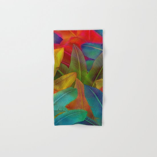 Exotic Leaf Pattern Hand & Bath Towel