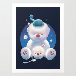 Bichon Ice Shaver Art Print