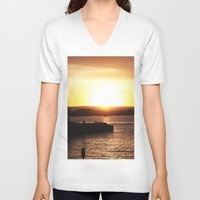 san diego V-neck T-shirts featuring San Diego Sunset by Tdrisk46