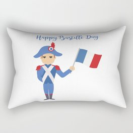 Soldier holding the French flag - Bastille Day Rectangular Pillow