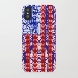 digital Flag (USA) & circuit board. iPhone Case