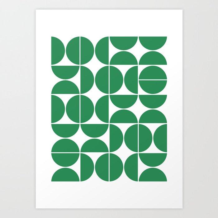 Mid Century Modern Geometric 04 Green Kunstdrucke