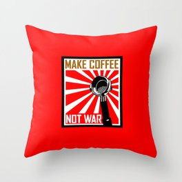 Japanese Propaganda Coffee Poster Throw Pillow