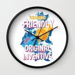 Aquarius Zodiac Horoscope Squid Spirit Animal Wall Clock