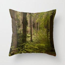 Kentish Woodland Throw Pillow