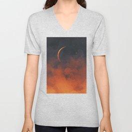 Silent Moon Unisex V-Neck