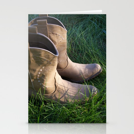 Country Boots 2 Stationery Cards