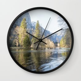 The Merced Flows Through It Wall Clock
