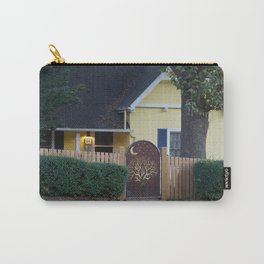 Yellow House with Moon Gate Carry-All Pouch