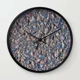 Asphalt and pebbles texture Wall Clock