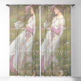 John William Waterhouse - Windflowers Sheer Curtain