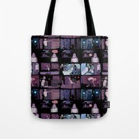musa Tote Bags featuring bad person by musa