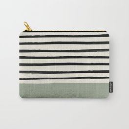 Sage Green x Stripes Tasche