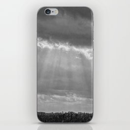 A little ray of light in Black and White iPhone Skin