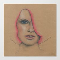 hot pink Canvas Prints featuring Hot Pink by Emma Armstrong