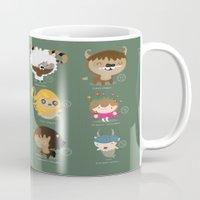 zodiac Mugs featuring The zodiac by Maria Jose Da Luz