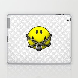 Quit Your Grinning / 3D chained up smiley Laptop & iPad Skin