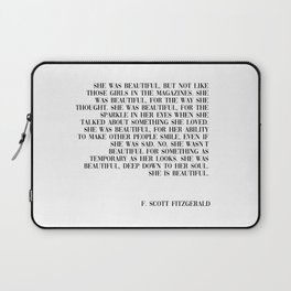she was beautiful- Fitzgerald quote Laptop Sleeve