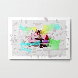 Sofa Girl Metal Print