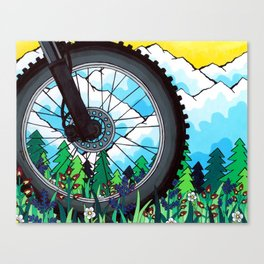 Bike Tire Canvas Print