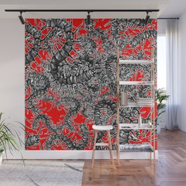 Centipede party Wall Mural