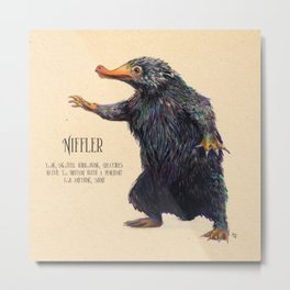 Niffler art Fantastic Beasts Metal Print