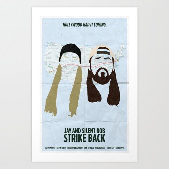 Jay and Silent Bob Strike Back Art Print