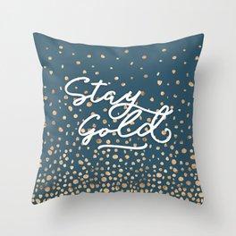 Stay Gold - Golden Drops Throw Pillow