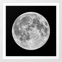 Art Prints featuring Full Moon by Space99
