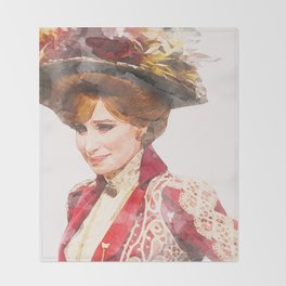 Hello, Dolly! - Barbra Streisand - Watercolor Throw Blanket