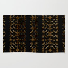 Dark Arabic Stripes Pattern Rug