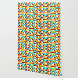 Colorful Penrose triangles- optical illusion backdrop Wallpaper