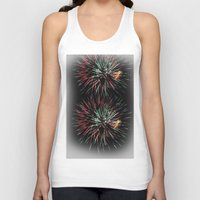 fireworks Tank Tops featuring Fireworks by Carlo Toffolo