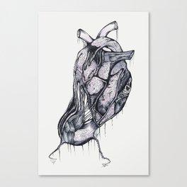 my heart comes undone (color) Canvas Print