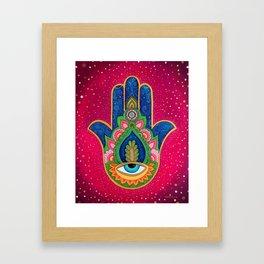 Fatima's hand / Hamsa Framed Art Print