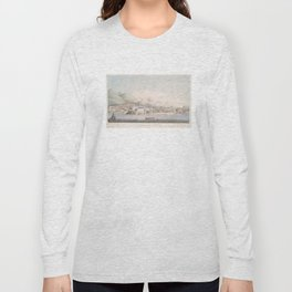 Vintage Pictorial View of Christiansted St Croix (1839) Long Sleeve T-shirt