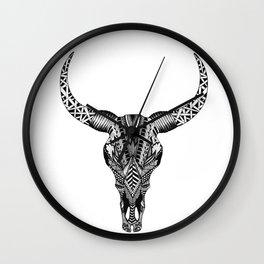 BULL SkULL Wall Clock