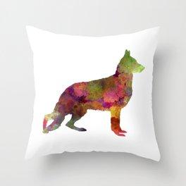 German Sherpherd dog 01 watercolor 2 Throw Pillow