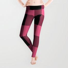 Pink & Black Buffalo Plaid Leggings